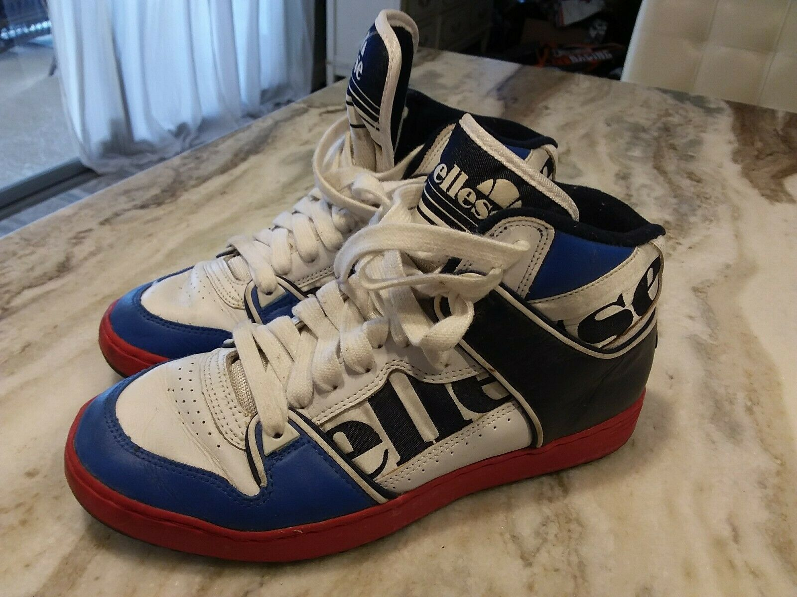 Vintage Ellesse Tenis Zapatos Talla 42 EE. UU. 9 Raro 80s 90s Rara Vintage