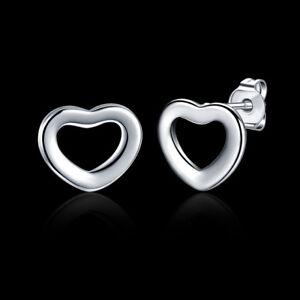 ASAMO-Damen-Ohrstecker-Herz-Ohrringe-925-Sterling-Silber-plattiert-O1109