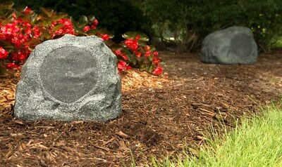 AudioSource RK5G Weather//Ultra Violet Resistant Rock Speakers Pair Granite