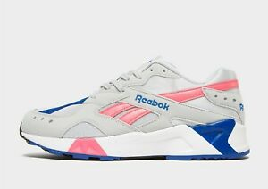 Authentic-exclusive-Brand-New-Reebok-Aztrek-pour-Homme-Taille-UK-8-9-10-Gris-Blanc