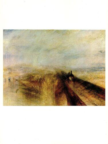"1977 Vintage IMPRESSIONISM /""RAIN STEAM /& SPEED/"" TURNER RR COLOR Art Lithograph"