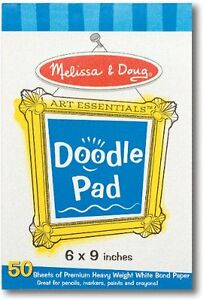 New-Melissa-amp-Doug-Art-Essentials-Doodle-Easel-Paper-Pad-4107-Free-Shipping