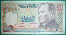 TURKEY 5000 5 000 LIRA SCARCE NOTE, P 196 A, issued 1981