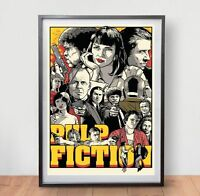 Pulp Fiction 1 Movie Poster Film Vintage Retro Art Tarantino Travolta Tim Roth