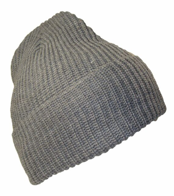befd896e449c34 THS Grey 12 Inch Long Cuffed Watch Cap Style Winter Ski Beanie Caps Hat Hats