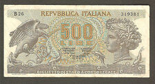 500 lire ARETUSA 23/04/1975 RARA 3  BB/BB+ Italy 500 UNC 1975 NO FDS
