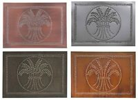 4 Punched Tin Panels Handcrafted Horizontal Rustic Country Wheat In 4 Finishes