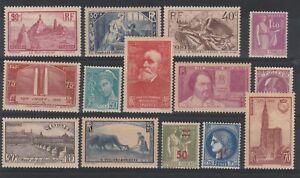 FRANCOBOLLI-1933-42-FRANCIA-LOTTO-MLH-Z-9749