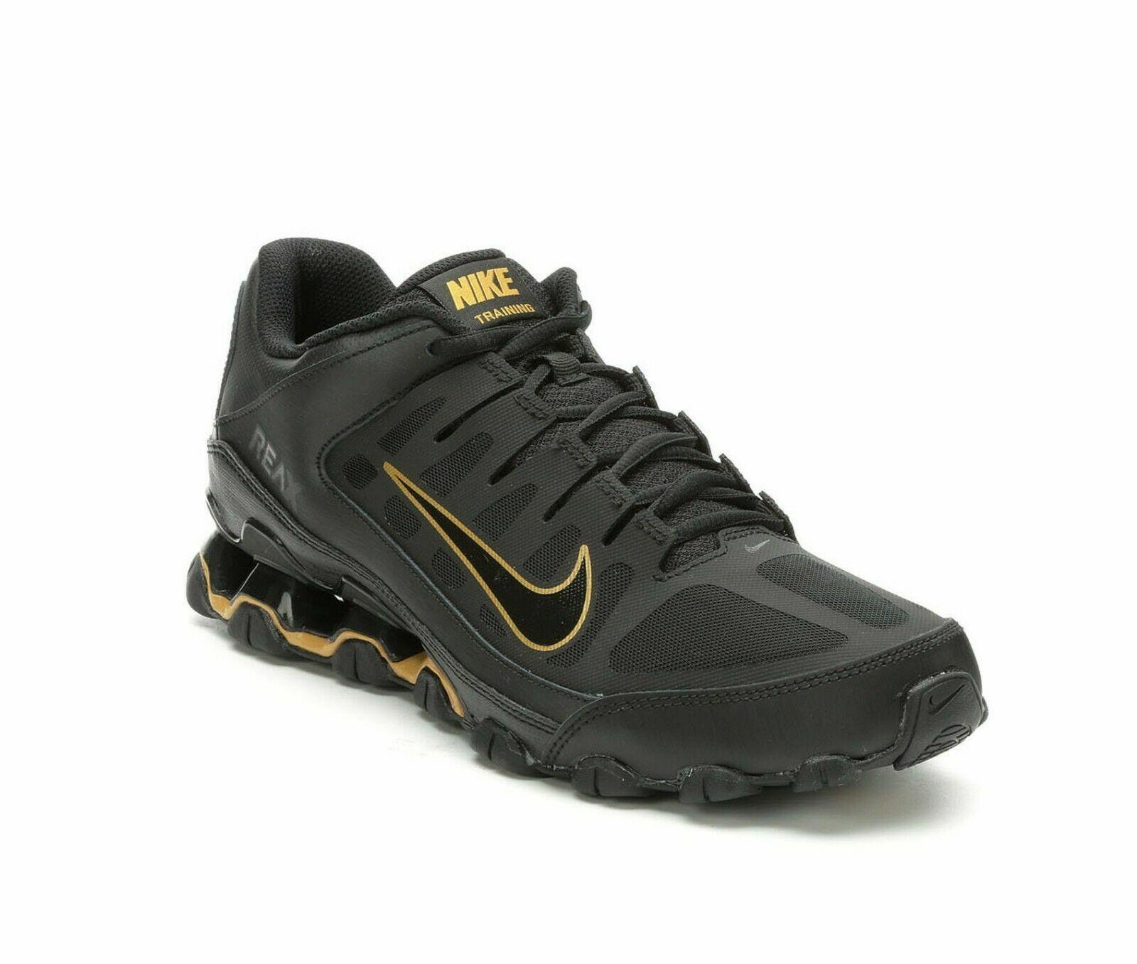 Nike Reax 8 TR Mesh   Running Training  621716 020   Black Metallic gold  NIB