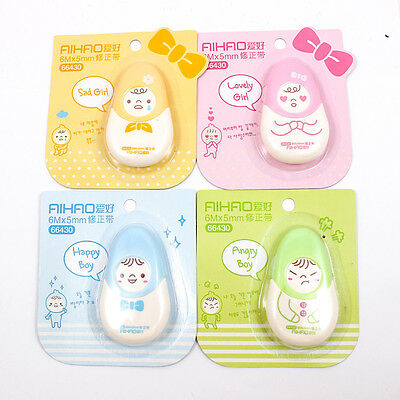 Cute Kid Doll Roller Correction Tape White Out 6mx5mm Stationery Office A1821