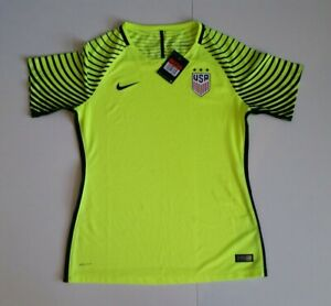 uk availability b14c7 b3342 Details about New - Nike US Women's Soccer Goalkeeper Jersey Goalie GK Volt  2016 USWNT Size L