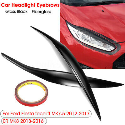 Car Front Headlight Facelift Eyebrow Eyelids Cover Lid For Ford Fiesta MK7.5 MK8