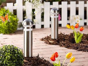 Set paletti lampade energia solare sensore crepuscolare giardino