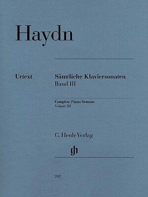 Haydn Complete Piano Sonatas Volume III Sheet Music Piano Solo Book 051480242