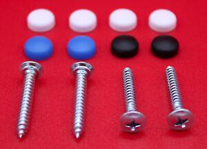 Kennzeichen-Schrauben-Set-4-8-x-32-mm-Nummernschild-Halterung-Kappen-PKW-LKW