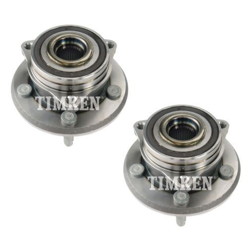 Pair Set 2 Front Timken Wheel Bearing Hub Kit for Jeep Grand Cherokee 11-17 4WD