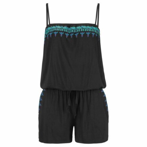 Womens Summer Strappy Mini Playsuit Ladies Jumpsuit Tops Romper Beach Holiday