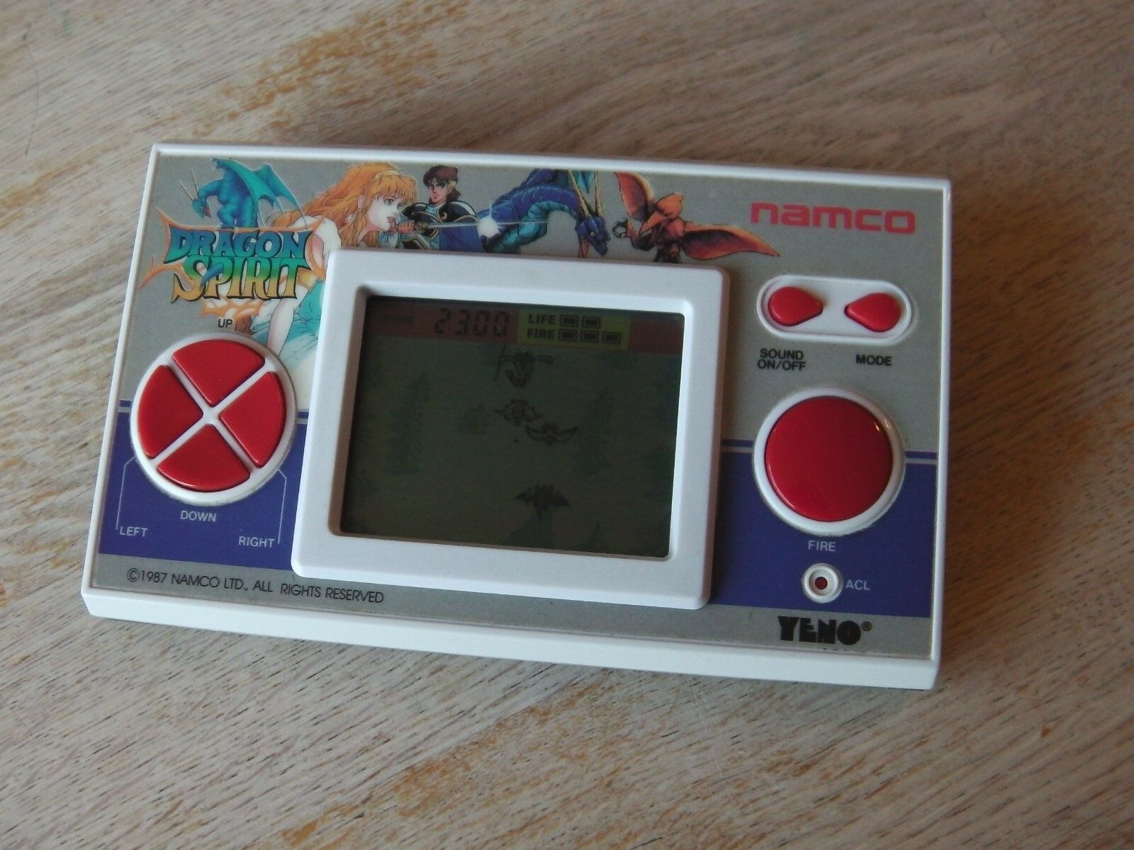 Lcd game Namco Yeno   Dragon spirit   game watch