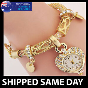 WOMENS-CRYSTAL-STUDDED-BANGLE-BRACELET-WATCH-Gold-Silver-Bling-Fashion-Dress-14