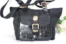 c6b2d02348 item 2 Vintage GIANNI VERSACE Black Nylon Leather Tote Shoulder Bag Medusa  Face Italy -Vintage GIANNI VERSACE Black Nylon Leather Tote Shoulder Bag  Medusa ...