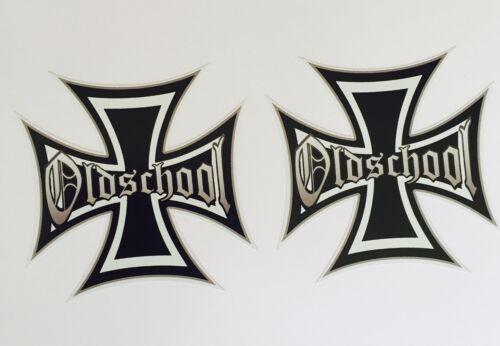 Iron Cross Oldschool Auto Motorrad Tuning Aufkleber Sticker Eisernes Kreuz Rat