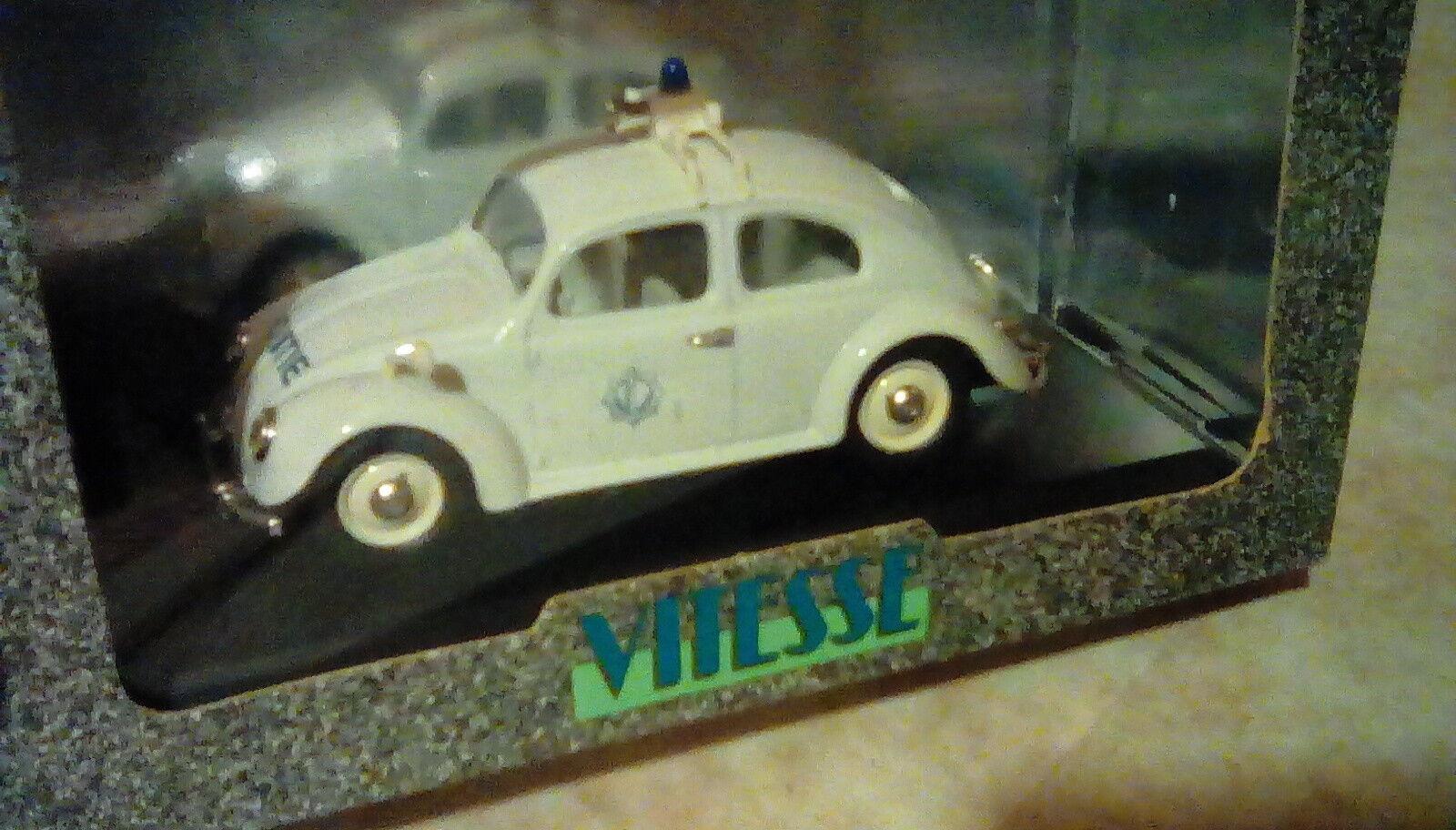 SCARCE SCARCE SCARCE VITESSE VW T1 BEETLE POLITIE BELGIAN POLICE PROMO 1 43 LTD EDT MB 1 1000 ed5333