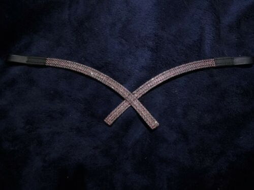 English Parade Details about  /Bling Crystal Browband Full Black Dressage Costume