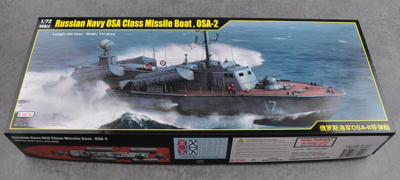 Trumpeter Russian Navy OSA-II PGM Missile Gunboat 67202 1 72 Model Kit Plastic