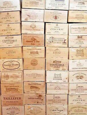 2 X 12 Flacone Di Dimensioni-vino In Legno Box Gabbia Per Vintage Shabby Chic Home Storage-mostra Il Titolo Originale
