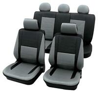 Leather Look Grey & Black Car Seat Covers - Holden Barina Sedan 2011 To 2015
