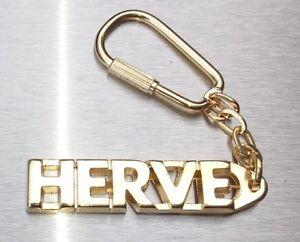 Gehorsam Edler SchlÜsselanhÄnger Herve Vergoldet Gold Name Keychain Weihnachtsgeschenk Büro & Schreibwaren
