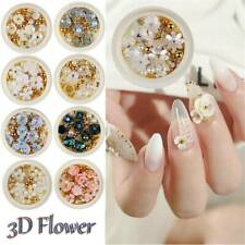 Nail Art 3D Rose Flower Rhinestones Jewelry Gem Mix Nail Art Decoration Glitter