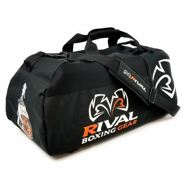 Rival RGB50 Borsone Zaino Borsone Boxe Formazione Gear Duffel Nero Arancione