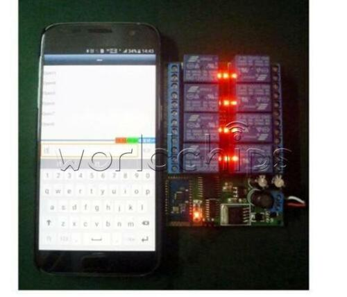 12V 8CH Bluetooth Relay Android Mobile Remote control Switch for Motor LED Light