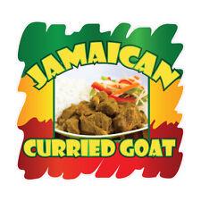 Jamaican Curried Goat Concession Restaurant Food Truck Die Cut Vinyl Sticker
