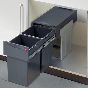 Image Is Loading Kitchen Waste Bin Hailo Tandem 30 Double