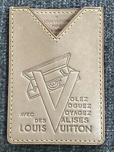 best loved 113c4 38d46 Details about Authentic LOUIS VUITTON Limited Edition VVV Vachetta Card  Holder
