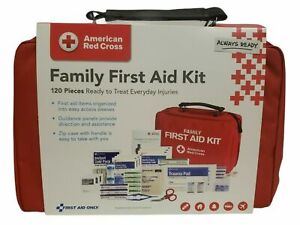 American Red Cross Family First Aid Kit,120 Count Official License Product. W/De