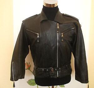 vintage-MAURITIUS-Motorrad-Lederjacke-motorcycle-leather-jacket-biker-L