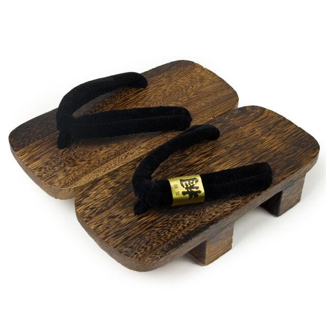 Japanese GETA Traditional Wood Sandal L 27cm YUKATA SAMUE KIMONO Yakikiri