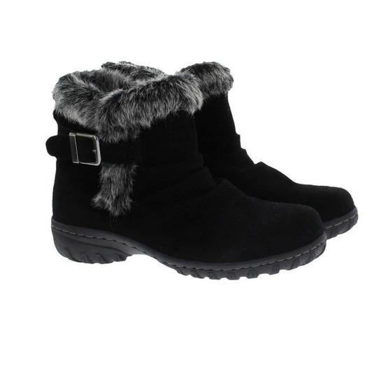 KHOMBU LINDSEY Women's Faux Fur Lined Boot, Black, Sz 6M