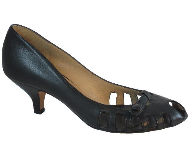 il più alla moda The The The Seller Italian Leather Summer scarpe Pep Toe  3646 nero  shopping online e negozio di moda