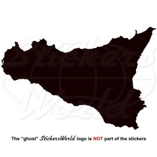 22 FARBE Sizilien Sizilianisch ITALIEN Schattenriss Kartenform 130mm Aufkleber