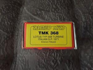NEW-Tameo-Kits-TMK-368-Lotus-56B-Italian-GP-1971-Fittipaldi