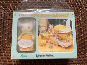 Sylvanian-Families-Mikeneko-039-s-Ice-Cream-Shop-Vintage-Calico-Critters-Epoch-w-Box