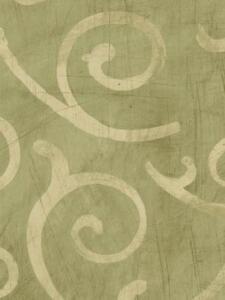 Wallpaper-DesignerLarge-Tan-Scroll-on-Sage-Faux