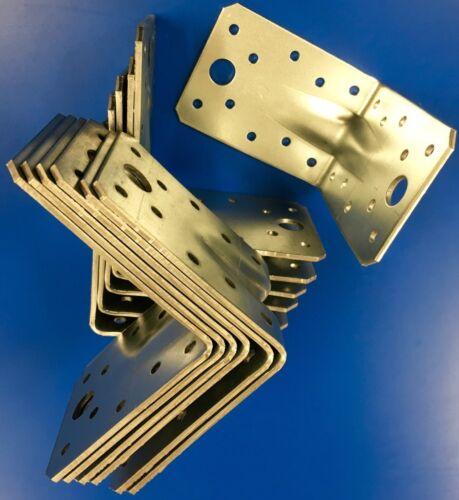 Stahlwinkel Winkelverbinder 90 x 90 x 65 mm mit Sicke,Steg Rippe Winkel,W9