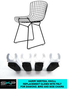 Image Is Loading GLIDES FOR HARRY BERTOIA CHAIR DIAMOND BIRD SIDE