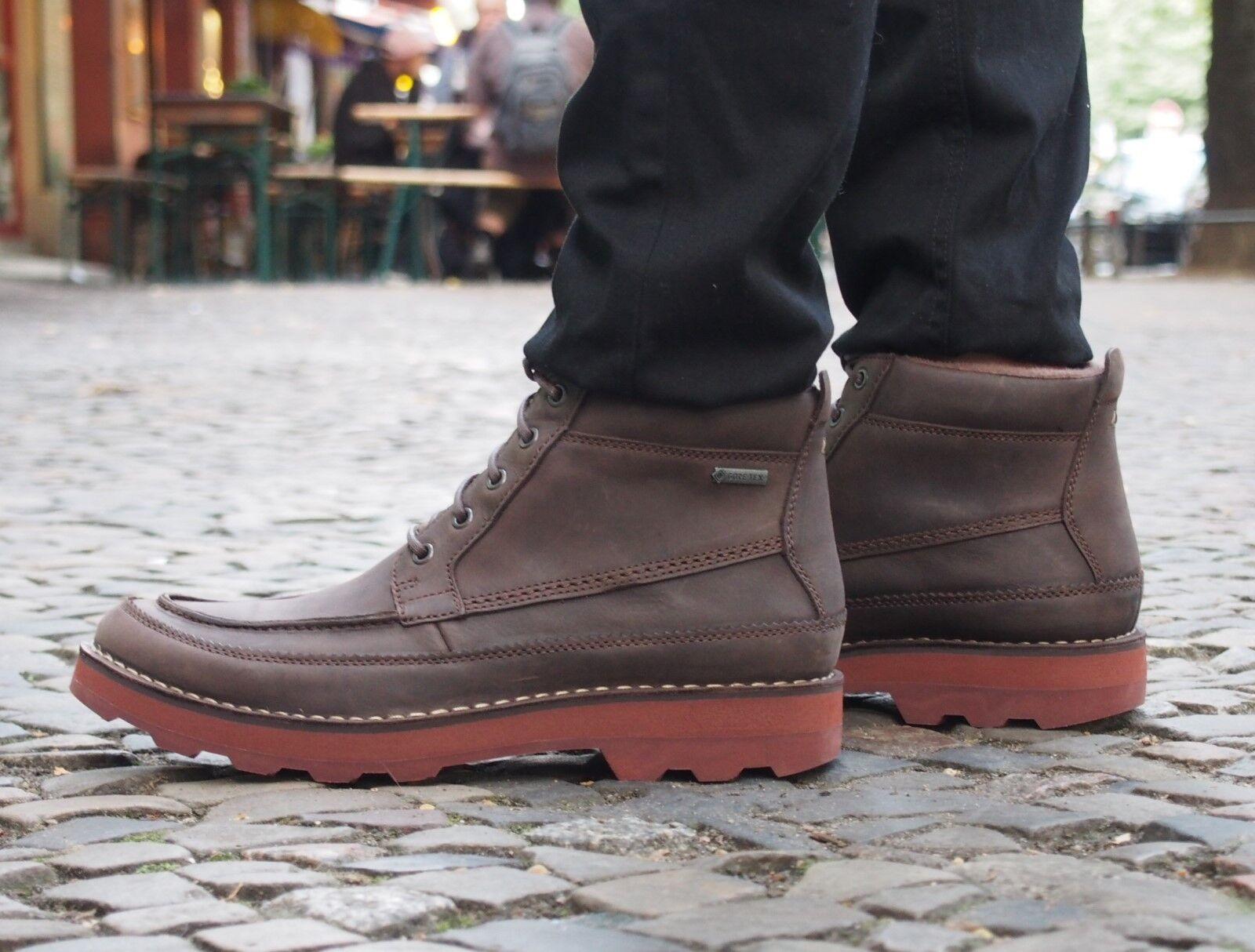 Clarks Originals Schuh Korik Rise GTX GoreTex Brown Echtleder Winterschuhe NEU