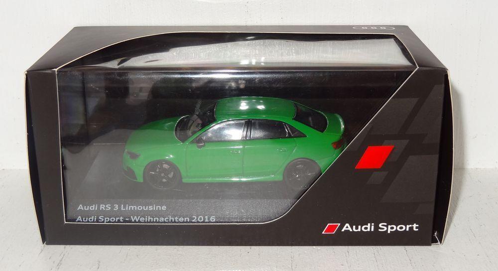 Iscale Audi RS 3 sedán-audi sport navidad 2016 1 43 PC + embalaje original (r2_2_12)